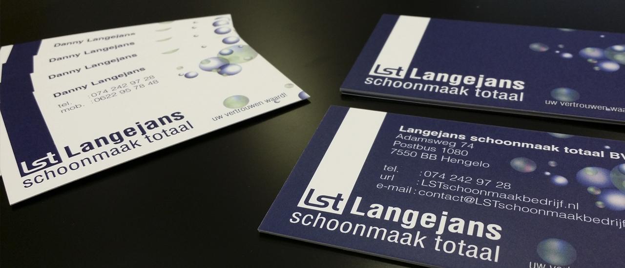 Visitekaartjes Langejans schoonmaak totaal BV